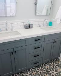 Bathroom Tilt Mirror Hardware by Beach House Bathroom Remodel Frosty Carrina Quartz Counter Tops