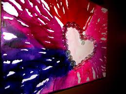 DIY Melted Crayon Heart Art
