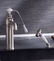 herbeau dedion faucet handpsray in weathered copper brass