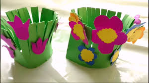 Easy Paper Craft Flower Garden Making For Kids