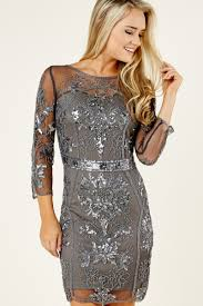 grey dress sequin dress party dress 58 00