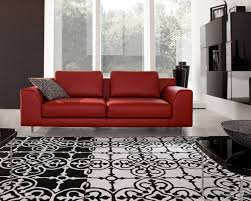 simple manificent red couch living room decoration decorating