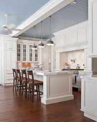 tongue and groove ceiling kitchen traditional with counter stools