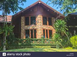 100 Home Design In Thailand Wooden House And Garden Architecture Design Stock Photo