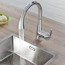 mitigeur cuisine robinet de cuisine tactile grohe minta touch espace aubade