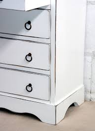 schubladenkommode weiß shabby chic mit 5 schubladen vintage