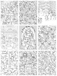 A4 Paperback Oodles Of CHRISTMAS Dog Doodles VOLUME II Colouring Book Gallery Photo