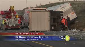 4 Injured After Semi-truck And Greyhound Bus Crash Near Kettleman ... Semi Truck And Mustang Collide In Utah County Multiple Injuries 18yearold Reidsville Woman Injured Crash With Semitruck News 2 People Dog Rescued From Semi Accident On Route 53 Long Semitrucks Speeding Icy Roads Leads To Crashes I94 Berrien Man Young Girl Killed Volving West Phoenix Semitruck Rollover Near Watauga Lake Semitruck Driver Cited Speed Infraction That Traffic Stopped Along Ogchee Road At Berwick Boulevard After Causes I65 Choking Chocolate Toyota Dealership Displays 2018 Camry That Got Rearended By Fatal Crash Grove Il 6102014 Firefighter Jobs Truck Dumps 46000 Pounds Of Lumber Wolf Creek Pass