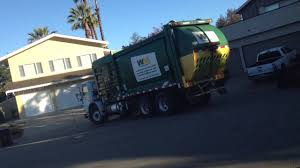 Brown Garbage Truck 12-23-14 - YouTube