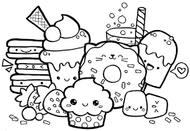 Extravagant Coloring Pages Kawaii Page 27126 Food Crush Cute Cat Unicorn