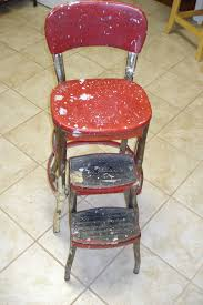 Cosco Retro Chair With Step Stool Yellow by Cosco Step Ladder Chair Restoration Visual Engineering