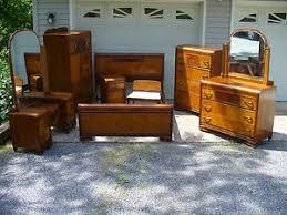 Waterfall Vanity Dresser Set by 1930 U0027s Art Deco Waterfall 8 Piece Bedroom Set Bed Vanity Cedar
