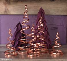 Copper Wire Christmas Decorations Diy Trees