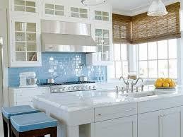 Astonishing Home Kitchen Decor Ideas Featuring Personable Painting F Kitchens Cabinet And Stylish Blue Tile Backsplash