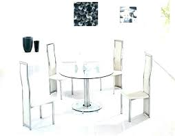 Small Round Dining Table Glass Set
