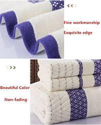 Decorative Towel Sets Bathroom by 3pcs Cotton Bath Face Towel Set Bathroom Soft Jacquard Pattern