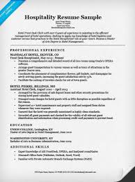 hotel clerk resume sle resume companion
