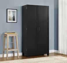 Sterilite 4 Shelf Cabinet by Amazon Com Ameriwood Home Carver 64 Storage Cabinet Black