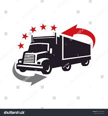 100 Truck Images Clip Art Silhouette Containermoving Logo Stock Vector Royalty