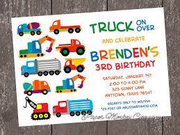 100 Truck Birthday Invitations Custom Printed Construction Work S Dump S S