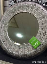 ornate round mirror from India Simplified Bee