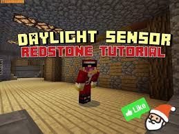 redstone daylight sensor minecraft pocket edition mcpe 0 13