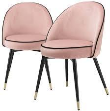 casa padrino luxus esszimmerstuhl set rosa schwarz messing 55 x 64 x h 83 cm esszimmerstühle mit edlem samtstoff esszimmer möbel