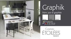 lapeyre cuisine graphik cuisine les meubles de cuisine graphik blanc pur et graphite