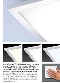 led panel ip44 für badezimmer rechteckig cct