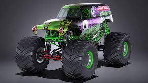 100 Gravedigger Monster Truck Grave Digger 3D Model