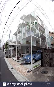 100 House Na June 11 2012 Tokyo Japan The Transparent House NA Stock