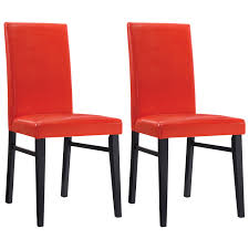 Red Patio Furniture Canada by Oakley Transitional Faux Leather Dining Chair Set Of 2 Red