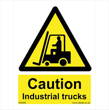 WS563 Caution Industrial Trucks Warning Signs - Warning Signs - WARNING Two Blank Highway Signs Overhead Trucks On Road Transport Concept Fork Lift Operating No Pedestrians Signs From Key Uk Sound Horn Calgary Car Door Magnets Truck Van Magnetic Orange County Company Logo For Trucks With A Driving Cab Manufacture Stock Health Safety De Riding On Forklift Is Forbidden Symbol Occupational Caution Sign 200 X 300mm Rigid Signage Bandit Auto Tyres Fork Lift Operating Sticker And