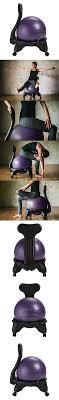 gaiam balance ball chair replacement ball purple 52cm yoga