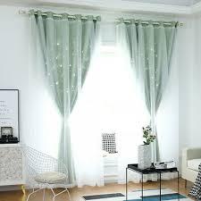 doppelschicht vorhang vorhänge tüllgardine sterne gardinen