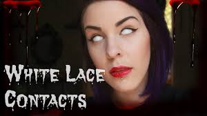 Prescription Colored Contacts Halloween Uk by White Lace Contacts Vlogtober Youtube