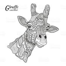 Giraffe Coloring Pages For Adults Zentangle Art 88912