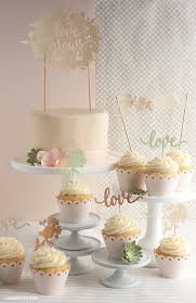 Cupcake Cake Toppers Spring Wedding