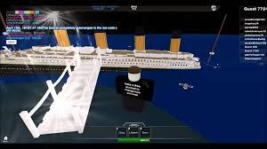 titanic sinking simulation in roblox youtube