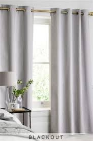 Thermal Lined Curtains Australia by Blackout Curtains Cotton Velvet U0026 Check Blackout Curtains Next