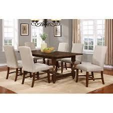 Best Master Furniture Hoover Walnut Color 5 Piece Dining Set