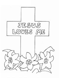 Jesus Color Pages And Loves Me Coloring Page