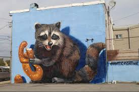Philadelphia Mural Arts Internship by Philly U0027s Newest Mural A Pretzel Eating Raccoon