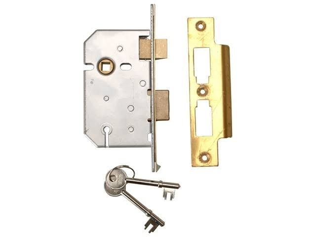 Union 3 Lever Mortice Sash Lock - 65mm
