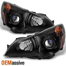 2010 2011 2012 subaru legacy outback black projector headlights