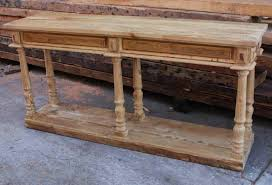 Narrow Sofa Table Diy by Reclaimed Wood Console Table For The Family Dinner Table U2014 The