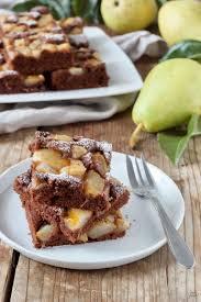 schoko birnen kuchen vom blech rezept lifestyle