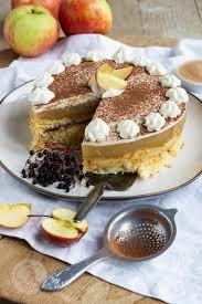 apfelmustorte mit pudding