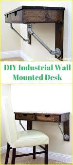 Diy Wall Desk Rustic Industrial Wall Mounted Desk Tutorial Wall