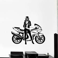 jhgjhgf cooles mädchen wandtattoo motorrad speed biker